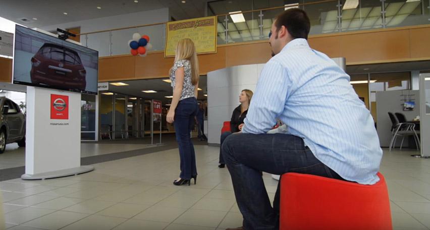 Expérience 3D au showroom Nissan - WIZZ factory, solutions digitales interactives