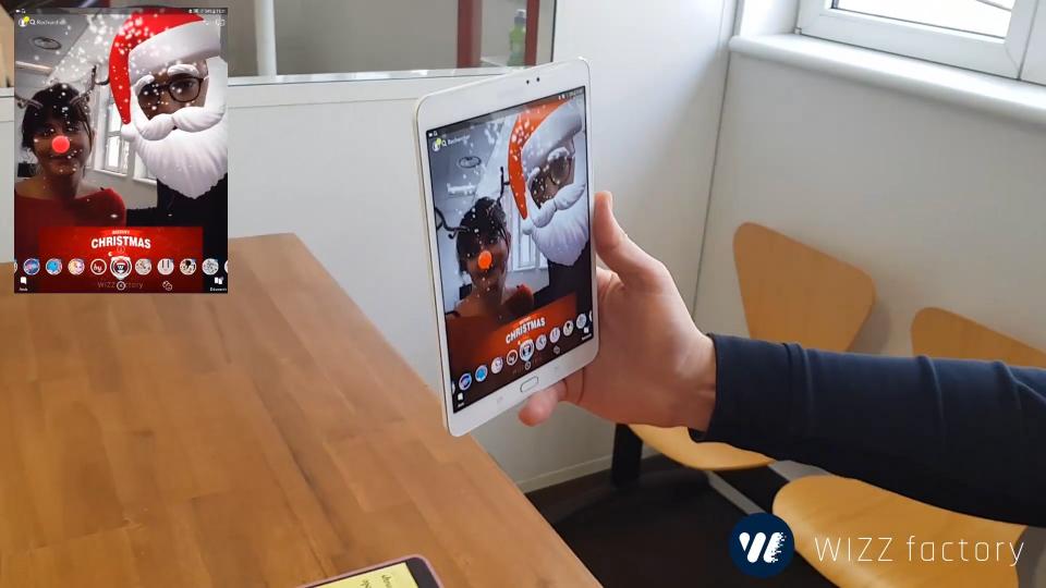 Filtres et lens Snapchat réalité augmentée - WIZZ factory, Interactions digitales événementielles